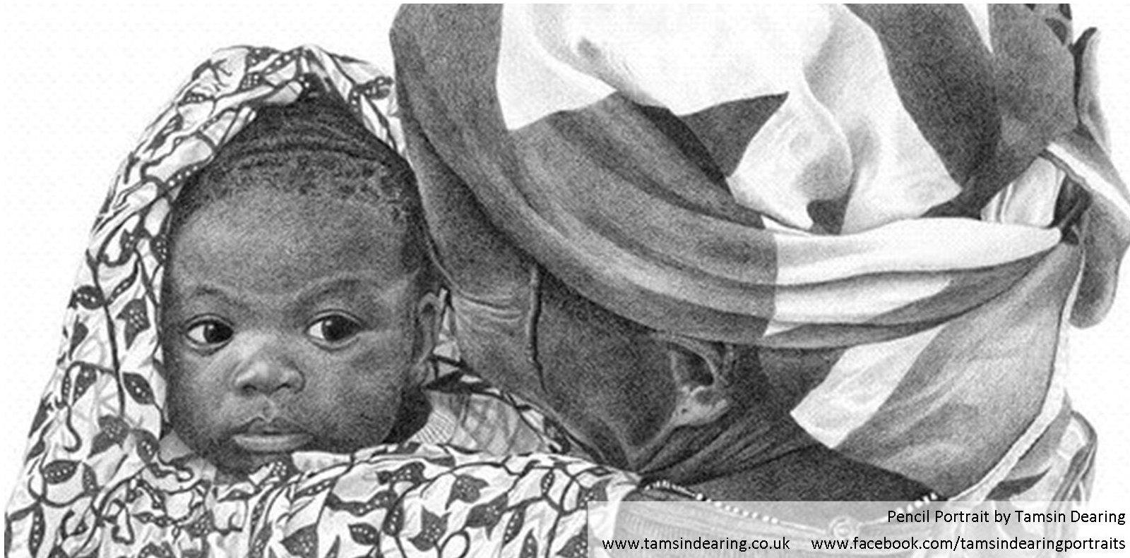 Facebook cover photo pencil portrait – Advent Calendar day 22