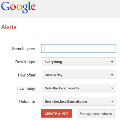 How to set-up Google alerts – Advent Calendar 2012 Day 20