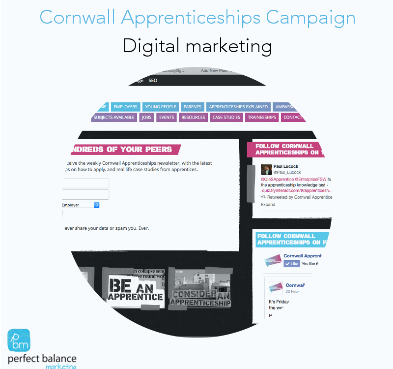 Cornwall Apprenticeships marketing by Perfect Balance Marketing