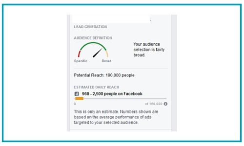 Choosing Facebook audience in ads