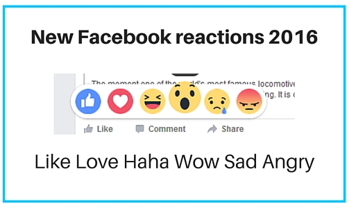 what are the new Facebook reactions