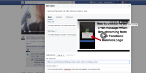how to add custom thumbnail to Facebook live video
