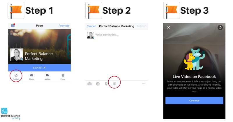 how to use Facebook live video on your business page 2016