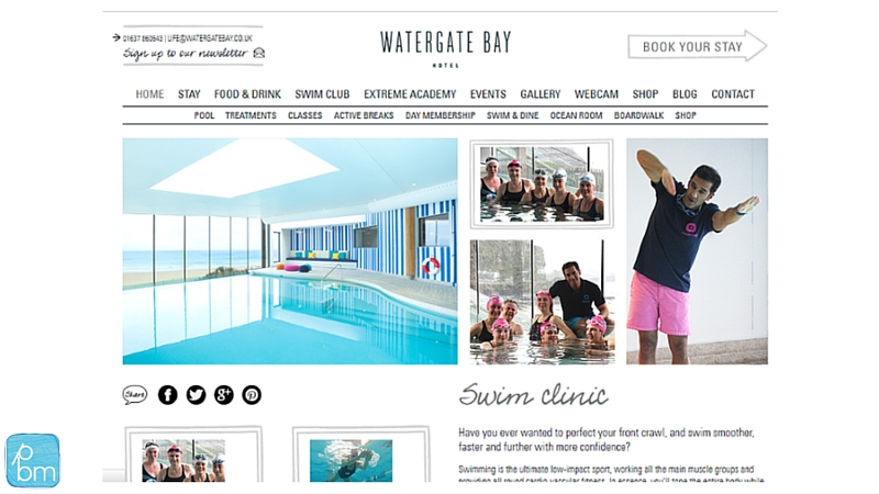 Watergate Bay swimm clinic