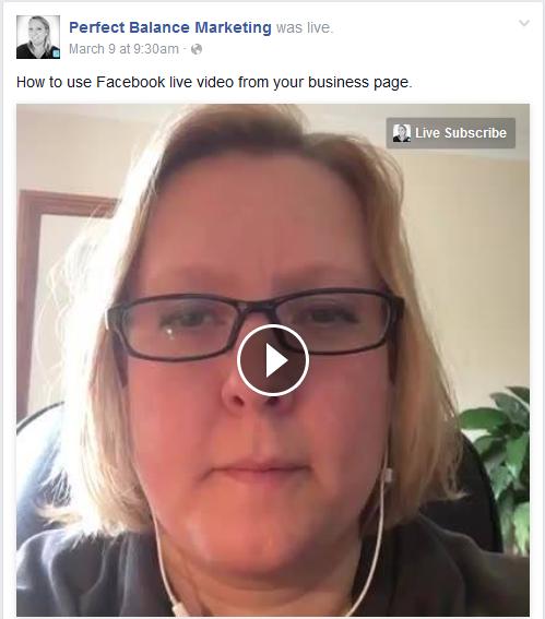 Facebook live video subscribe button