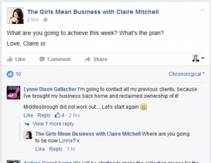 Girls Mean Business on Facebook