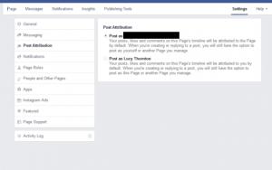 Facebook post attribution