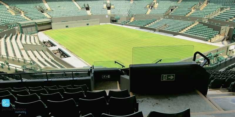 June marketing themes Wimbledon Tennis