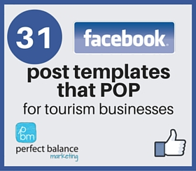 Facebook post templates for tourism businesses