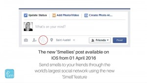 new Facebook smellies available on ios