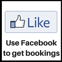 start here using facebook to get bookings