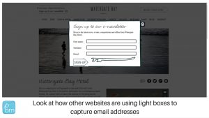 example email subscribe page
