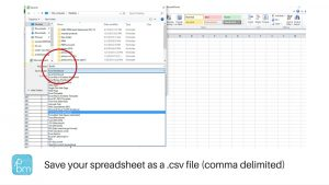 how to save as csv file