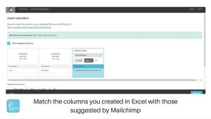 how to match subscriber fields in mailchimp