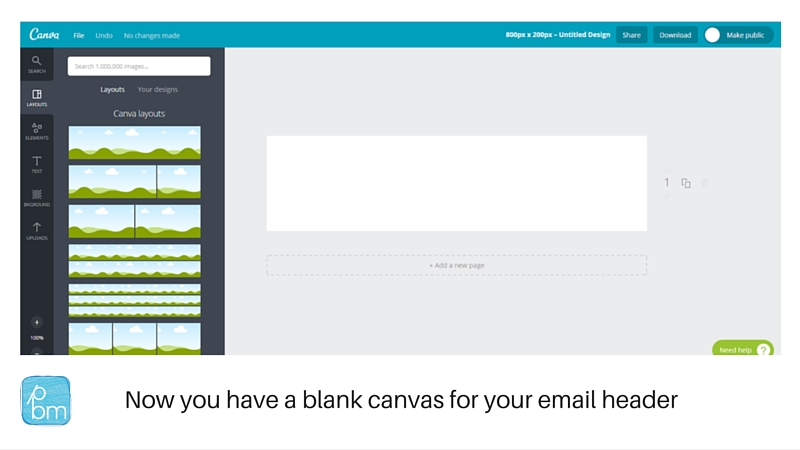 canva mailchimp header dimensions