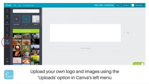 canva upload your own logo