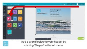 how to add a box to a graphic in canva