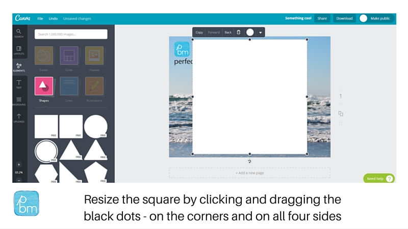 how to resize a shape in canva