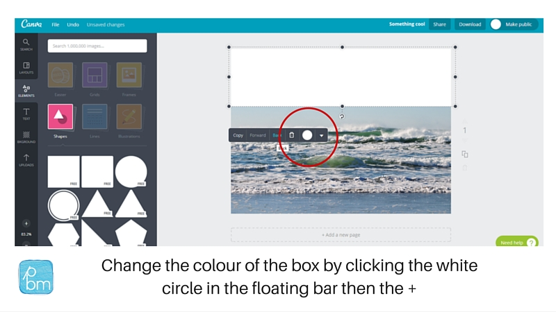 how to change colour of a a shape in canva