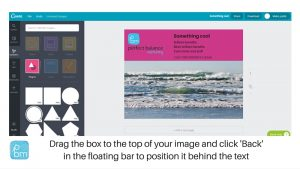 how to send shape to back in canva