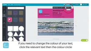 how to change text colour in canva