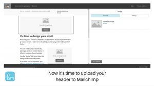 how to upload a new header in Mailchimp