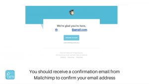 mailchimp sign-up process welcome email