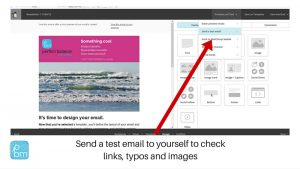 how to send a test email from Mailchimp