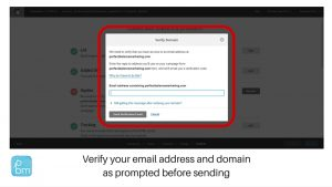 verifying your email address in Mailchimp