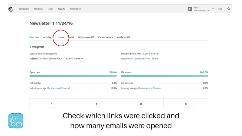 key metrics to track in Mailchimp