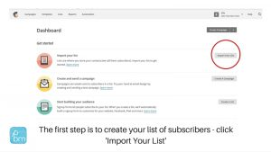 how to set up your list in Mailchimp