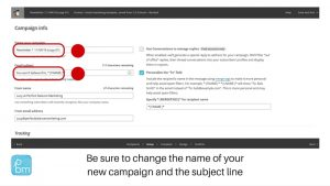 simple steps to sending a marketing email in Mailchimp