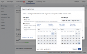 how to export from facebook insights