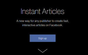 sign-up for facebook instant articles