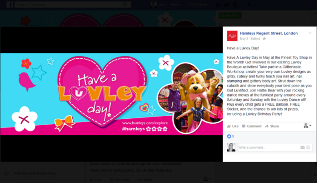 Hamleys facebook cover photo