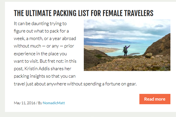nomadic matt travel blog