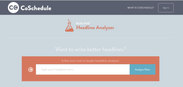 coschedule headline analyser