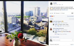 behind the scenes posts by buffer on facebook