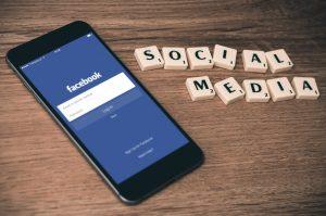 facebook open on smartphone