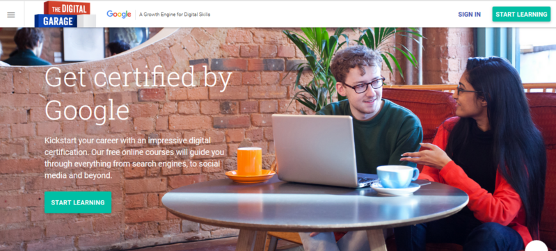 google ad for digital training landing page from facebook july 2016