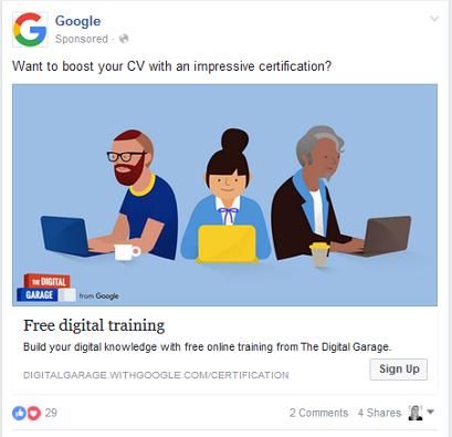 google ad on facebook july 2016