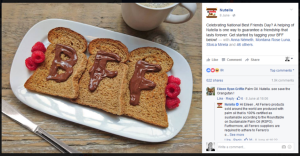 nutella post on facebook