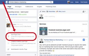 how to see posts from other pages on facebook