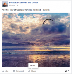 how to share a Facebook post to your business page