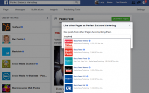 how to follow Facebook pages as your business page on Facebook