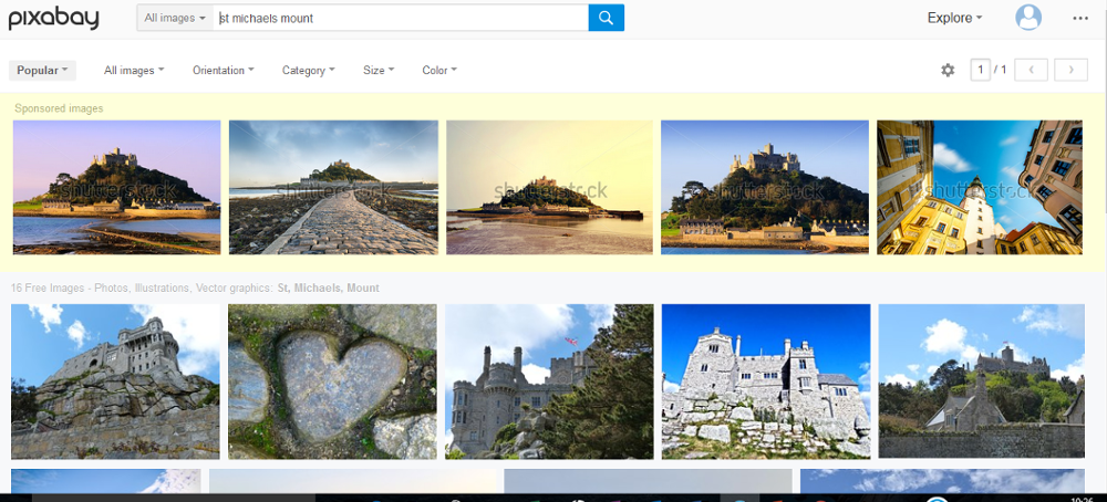 pixabay st michaels mount search